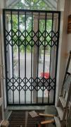 Sliding metal grilles for windows, showcase doors. Kharkov